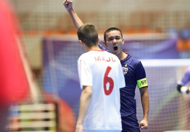 فوتسال قهرمانی زیر 20 سال آسیا، شکست سنگین لبنان مقابل تایلند در آخرین بازی گروه دوم