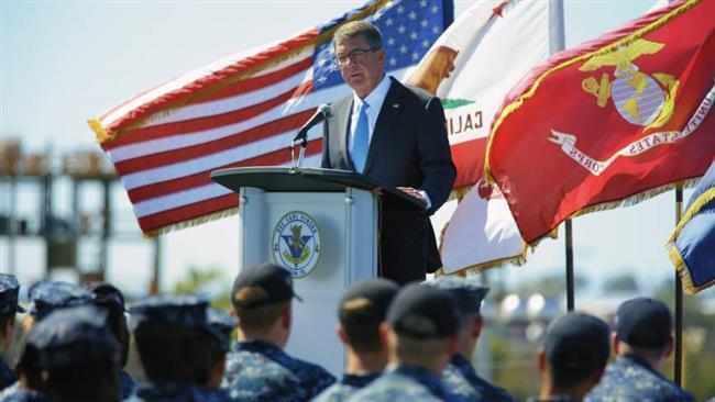 اشتون کارتر: اقدامات تهاجمی چین باعث حضور آمریکا در آسیا-اقیانوسیه است