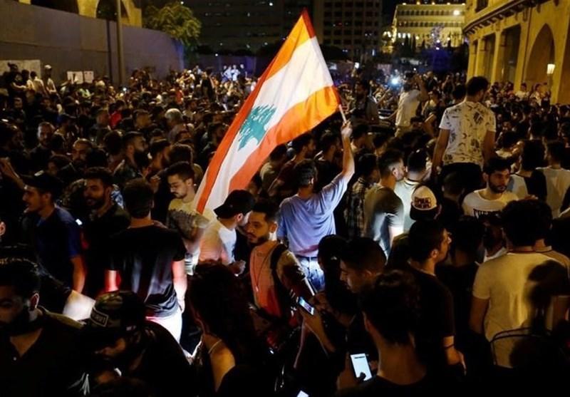 تظاهرات لبنانی ها در اطراف کاخ ریاست جمهوری