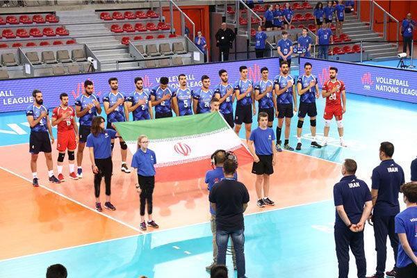 ایران بدون تغییر در هفته دوم لیگ ملت های والیبال