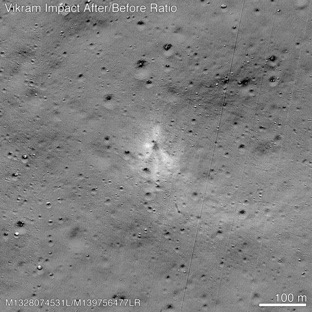 محل برخورد و بقایای باقی مانده از فضاپیمای هندی ها پیدا شد
