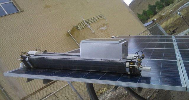 ساخت ربات تمیزکننده صفحات خورشیدی در کشور