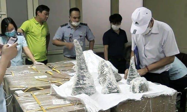 کشف محموله 125 کیلوگرمی شاخ کرگدن در ویتنام