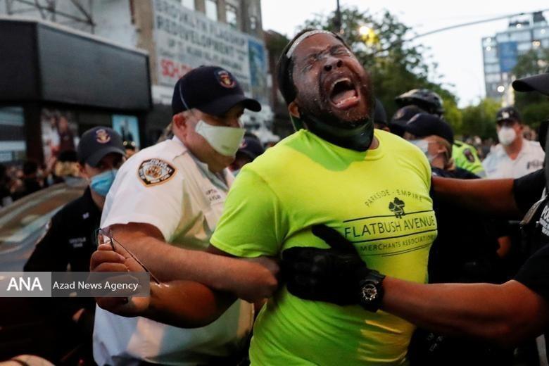 تظاهرات ضدنژادپرستی مردم آمریکا در ایالت های مختلف