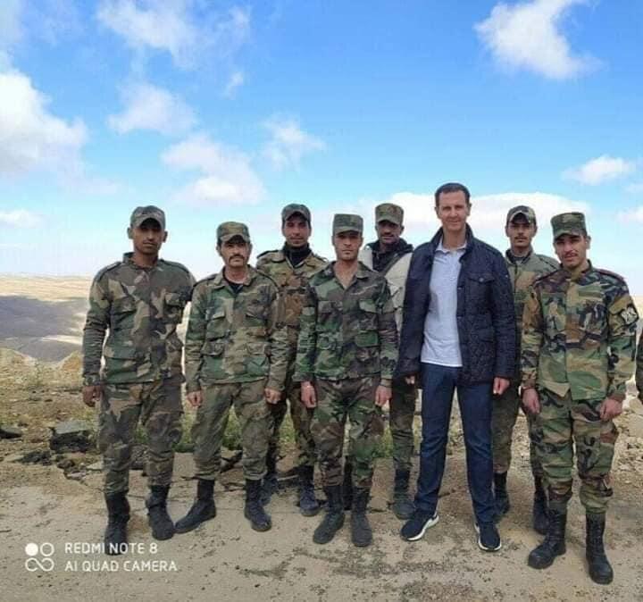 بازدید بشار اسد و همسرش از پایگاه ارتش سوریه، عکس