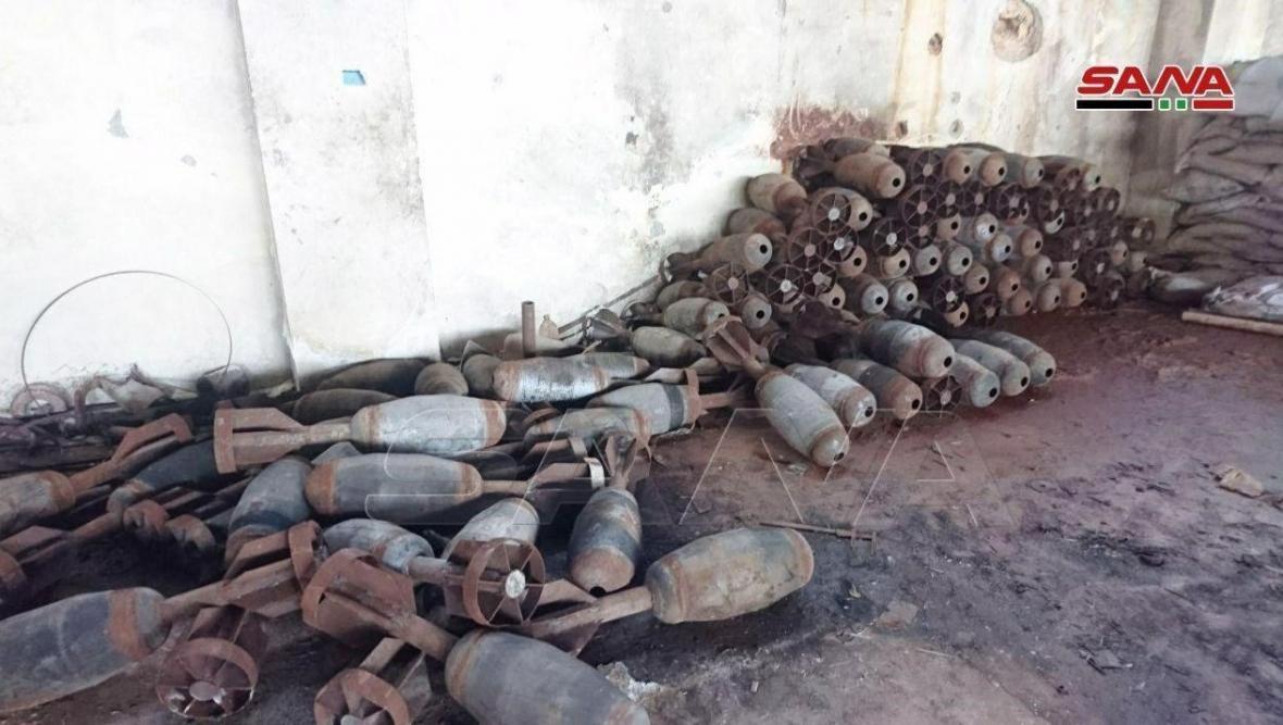 سوریه، کشف مقادیر زیادی سلاح و مهمات پیش از رسیدن به قلعه تروریست ها