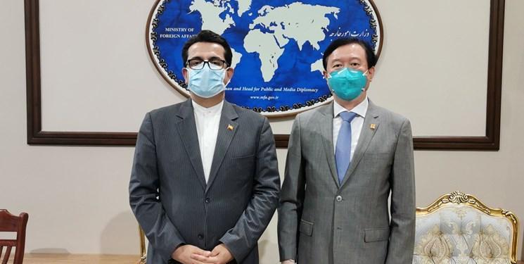 سفیر چین به ملاقات سخنگوی وزارت خارجه رفت