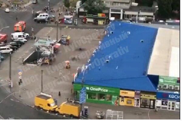 وقوع انفجار در نزدیکی یک ایستگاه مترو در کی یف