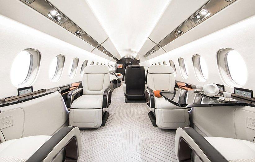 کابین چشم نواز هواپیمای فالکون 6X جایزه برتر طراحی داخلی را کسب کرد