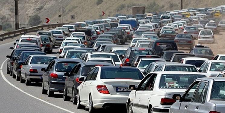 ترافیک سنگین و پر حجم در ورودی شرقی پایتخت