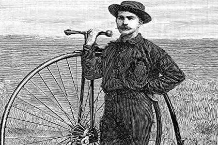 اولین کسی که دور دنیا را با دوچرخه رکاب زد
