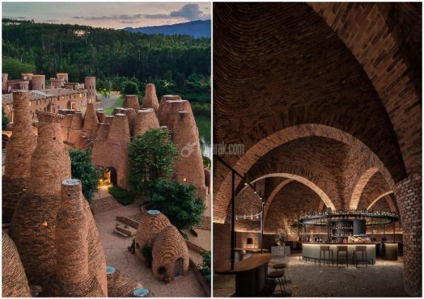 رستورانی عجیب در چین شبیه به تپه های موریانه ای