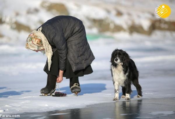 (تصاویر) زندگی پیرزن تنها در سرمای منفی 40 درجه سیبری