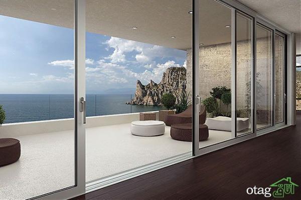 درب های اسلایدی؛ با طراحی های شیک مناسب دکوراسیون داخلی خانه های ویلایی