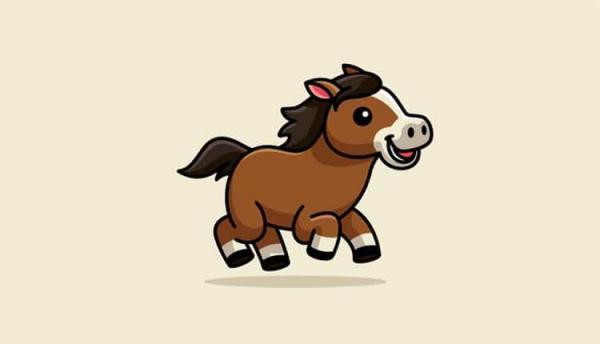 13 نقاشی اسب ساده برای بچه ها (به همراه آموزش گام به گام)
