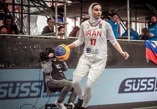 بسکتبال سه نفره انتخابی المپیک، دومین شکست متوالی زنان ایران