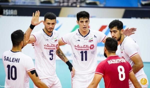 صعود تیم ملی والیبال ایران با صدرنشینی در مرحله گروهی